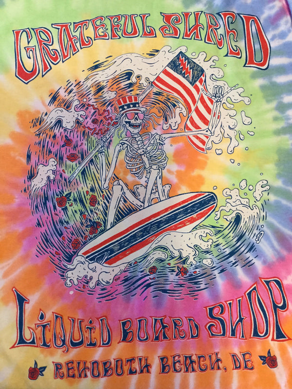 Liquid Grateful Shred Tie Dye Tee