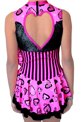 Pink Sweetheart figure skating dress