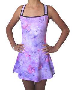 Figure skating dress lila butterfly
