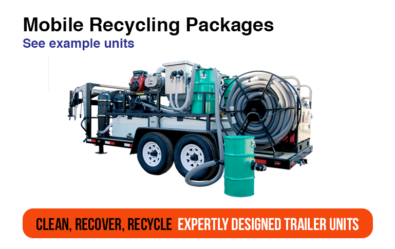Pressure Washer Trailer Recycling Equipment