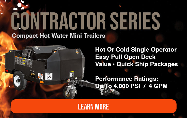 compact utility pressure washer trailer