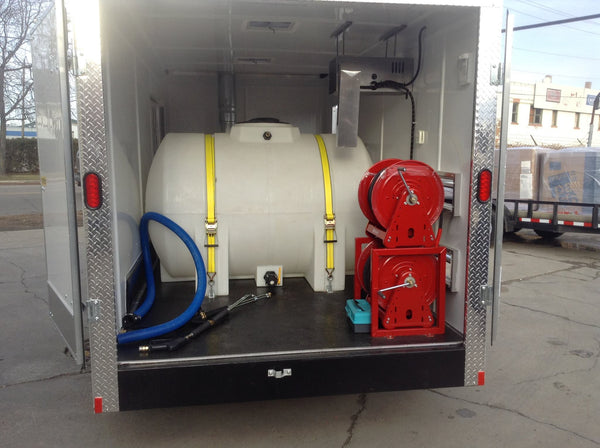 Enclosed Pressure Washer Trailer Package With Cold Weather
