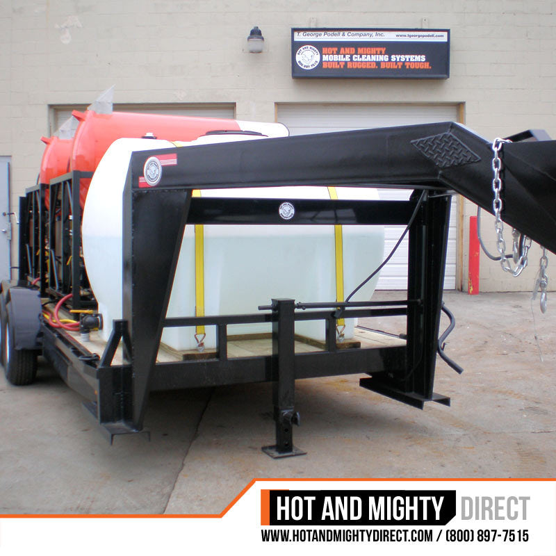 Mobile Wash Equipment: 20 GPM At 3,000 PSI Trailer Mounted