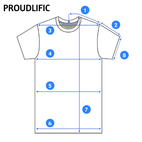 65e8cae06 T-Shirt Measurement Guide in Inches and Centimetres – Proudlific