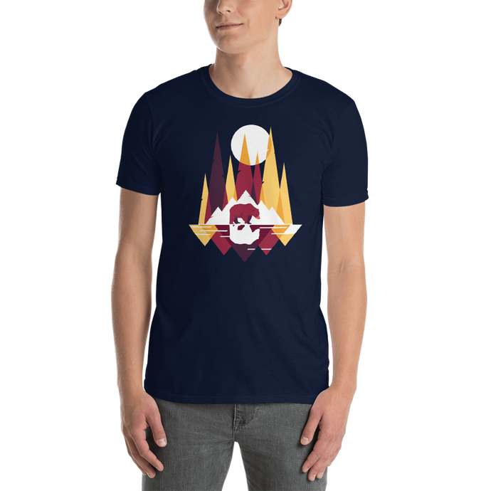 Abstract Bear In Nature T-Shirt