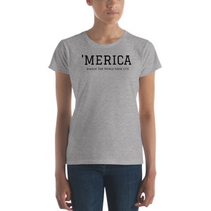 America Running The World 4th of July Fit T-Shirt