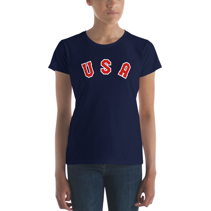 USA Letters Fit Womam T-Shirt