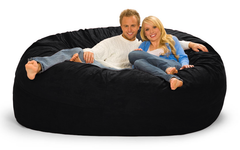 7 ft Black Bean Bag Chair