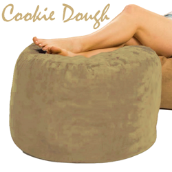 Giant Bean Bag Ottoman Cookie Dough