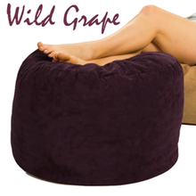 Giant Bean Bag Ottoman Wild Grape