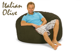 Giant Bean Bag 4 ft Round Italian Olive Green