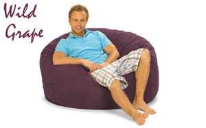 Giant Bean Bag 4 ft Round Wild Grape Purple