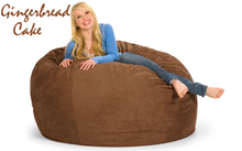 Giant Bean Bag 5' Round Gingerbread Cake