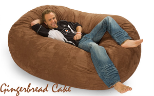 Giant Bean Bag 6 Oval Gingerbread Cake Brown