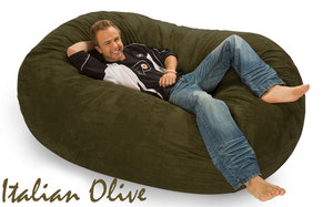 Giant Bean Bag Italian Olive 6 Oval
