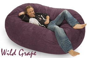 Giant Bean Bag 6 Oval Wild Grape Purple
