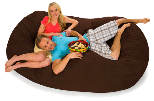 7.5 Ft Oval Luxury Bean Bag Lounger