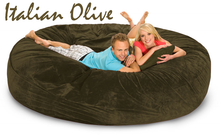 Sofa Bean Bag Italian Olive 8' Round