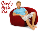 Giant Bean Bag Candy Apple Red 4' Round