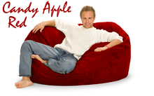 Giant Bean Bag Candy Apple Red 5 Oval