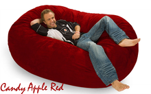 Giant Bean Bag Candy Apple Red 6 Oval