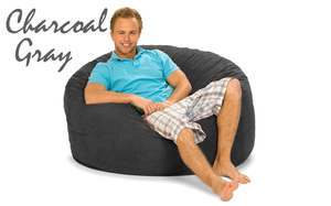 Giant Bean Bag Charcoal 4' Round
