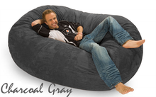 Giant Bean Bag Charcoal Gray 6 Oval