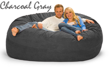 7 ft Couch Charcoal Gray