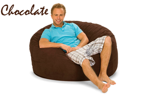 Giant Bean Bag Chocolate 4' Round