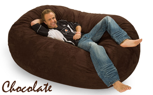 Giant Bean Bag Chocolate 6 Oval