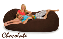 Bean Bag Couch Bed in dark brown - chocolate