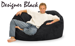 Giant Bean Bag Designer Black 5 Oval