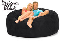 6 ft Bean Bag Love Black