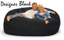 7 ft Giant-Bean-Bags.com Couch Black
