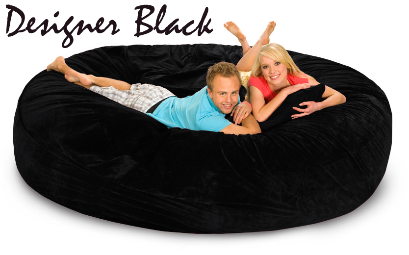 8 Ft Bean Bag Sofa Bed · 8 Ft Designer Black ...