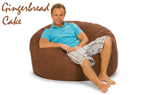 Giant Bean Bag 4 ft Round Gingerbread Cake Brown