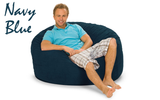 Giant Bean Bag Navy Blue 4' Round