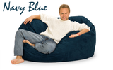 Giant Bean Bag Navy Blue 5 Oval