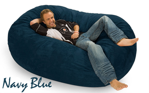 Giant Bean Bag Navy Blue 6 Oval