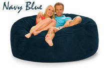 6 ft Love Bean Bag Navy Blue