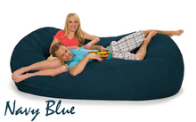 Bean Bag 7 ½ Navy Blue Oval