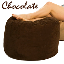 Giant Bean Bag Ottoman Chocolate