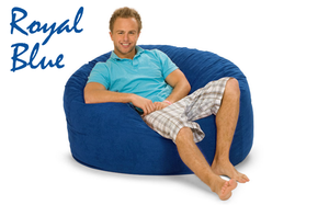 Giant Bean Bag Royal Blue 4' Round
