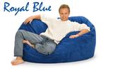 Giant Bean Bag Royal Blue 5 Oval