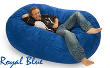 Giant Bean Bag Royal Blue 6 Oval