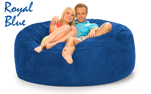 6 ft Loveseat Beanbag Royal Blue