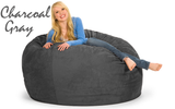 Giant Bean Bag 5' Round Charcoal Gray