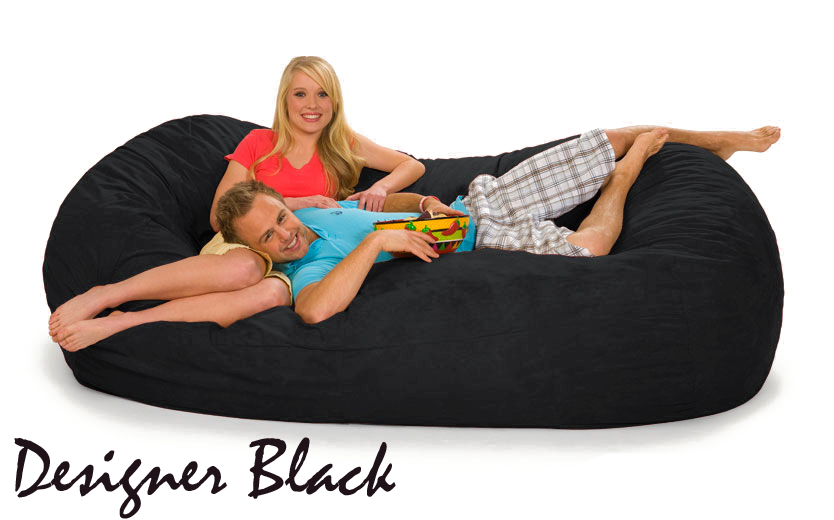 Couch Bed Designer Black 7 ft oval shape