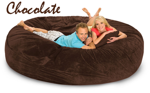 8 ft BeanBag Chocolate Brown