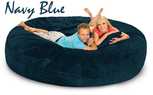 8 ft Navy Blue http://www.giant-bean-bags.com/
